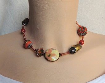 Clearance SALE  - Necklace of polymer clay