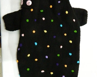 pet clothing  dog sweater hand knit   measure made to fit your dog perfectly - other colors are possible