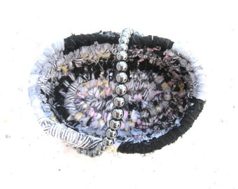 BRACELET COLLECTION  textile art  small storage Basket Number Thirteen