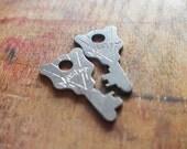 Master and Servant - Master Lock Antique Keys - Matching Flat Padlock Keys