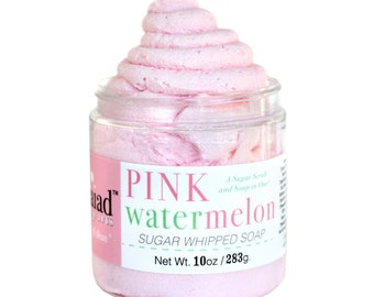 SUMMER Limited Edition - Pink Watermelon Whipped Soap Sugar Scrub