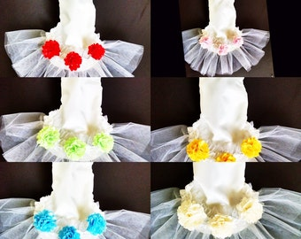 dog clothes Dog tutu Wedding satin white with organza and satin ruffle and white tulle Bridal photo prop  best friend in wedding