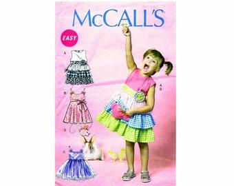 Girls Dress Belt Bag McCalls 6496 Sewing Pattern Size 2 - 3 - 4 - 5 UNCUT