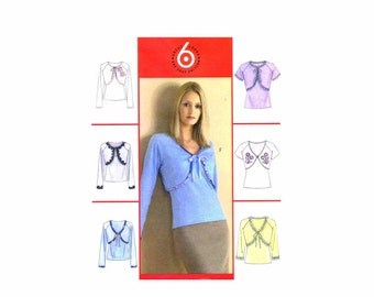 Misses Shrugs and Top McCalls 4781 Sewing Pattern UNCUT Different Sizes Available