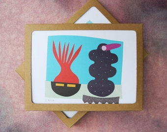 Abstract Collage Cards, Series 2 - Boxed set of 8 cards