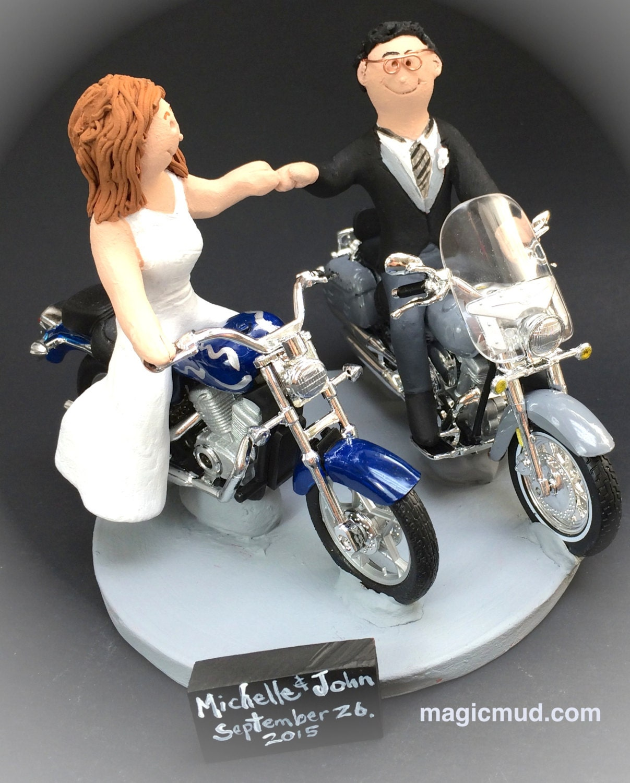 Motorcycle Bride Wedding Cake Topper Gallery Photo