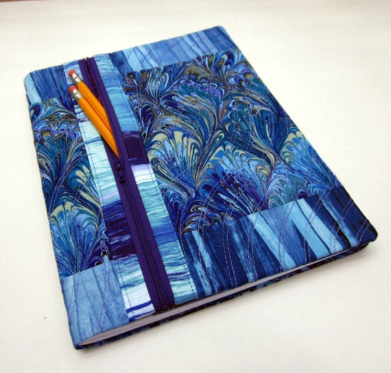 Fabric Book Cover With Pocket : Composition book cover fabric w zipper pocket refillable