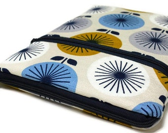 Microsoft Surface Pro 4 Case Womens Surface Book Sleeve, Custom Size Laptop Cover - Mid Century Modern Round Bouquet