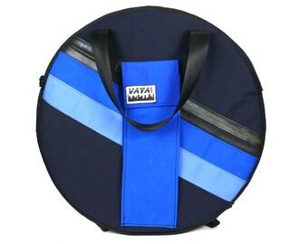 Blue Striped Cymbal Backpack/Bag