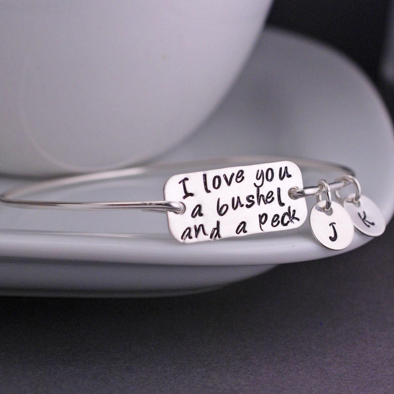 I Love You A Bushel And A Peck Necklace: I Love You A Bushel And A Peck Bracelet Sterling By