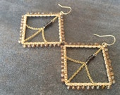Andalusite, smoky quartz and gold Statement earrings.