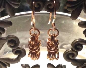 Rose Gold-Filled Byzantine Earrings