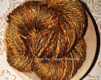 Handspun Mohair Yarn / 7.7 ozs. / 118 yards / Seaweed