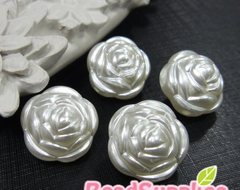 BE-RB-08004 - Pearl rose beads , 8 pcs