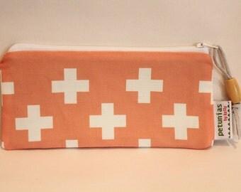 SALE Zipper Pouch bag by PETUNIAS modern hipster geometric pencil case present gift bag present birthday