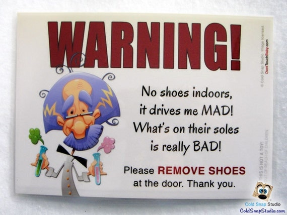 Sale no shoes in the house 5x7 door sign it Taking shoes off in house etiquette