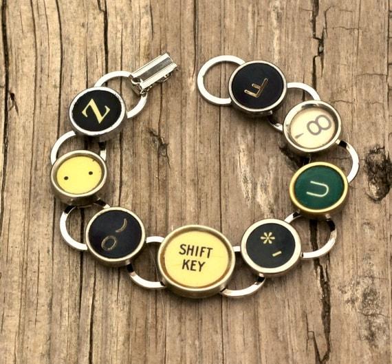 Vintage Typewriter Key Bracelet 67