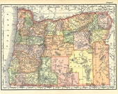 old map of Oregon from  1904, a printable digital map no. 925