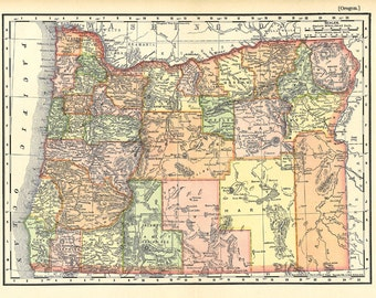 map of Oregon from  1904, a printable digital map no. 925