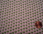 Quarter Yard  vintage fabric TINY PURPLE FLOWERS doll floral Blythe quilt