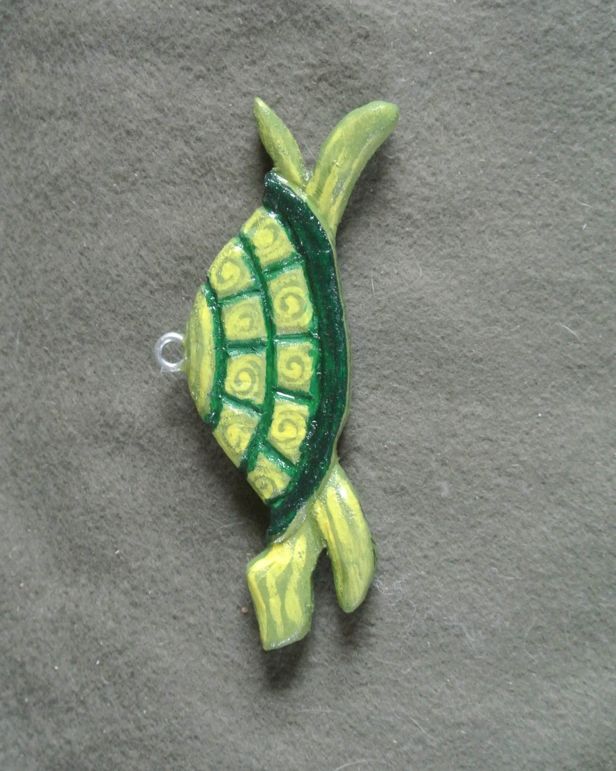 Turtle tortise home decor hanger sculpted hand painted for Turtle decorations for home