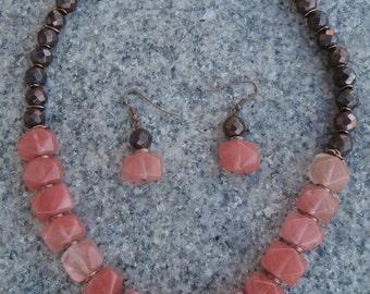 Cherry Quartz Necklace Set