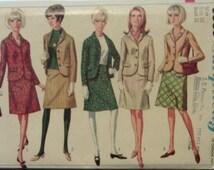 Vintage Sewing Pattern 1960s Sewing Pattern Simplicity 6685 Misses' Suit Pattern Size 10 Uncut