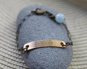 five deep breaths . a hand stamped soul mantra bracelet