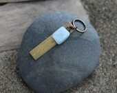 five deep breaths . a brass soul mantra keychain
