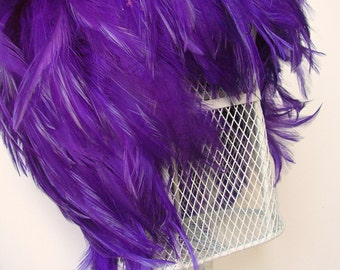 Feather Wig Purple Chic Posh Fashion