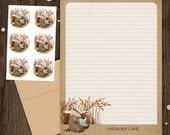 Personalized Stationery - Mini Letter Writing Set - Bookish Forest Badger- Stationery Set woodland animal
