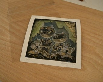 Mauzer the Cat Limited Edition Print