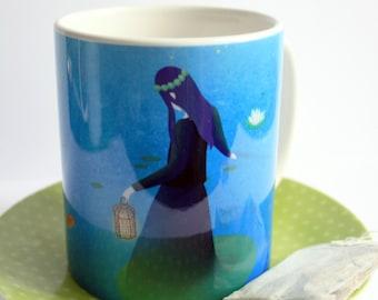 Fireflies - illustrated mug