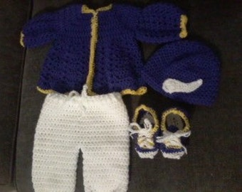 Football fan's baby set