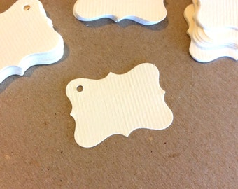 Ornate Tags, Gift Tags, Set of 100, Price Tags, Merchandise Tag, Jewelry Tag, Small Tag
