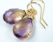 Ametrine Gold Earrings