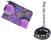 Essential Oils Take Along Bag by Borsa Bella - Waterproof lining fabric - Bella Luna Fabric