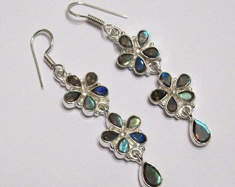 Sale: Labradorite and Sterling Silver Earrings
