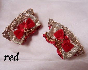 CIRCUS SPARKLE Star Bow Wrist Cuffs- Gold or Silver