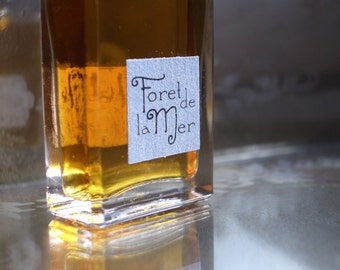 Foret de la Mer Natural Perfume Men's Fragrance Artisanal Small Batch made in Brooklyn, NY by Herbal Alchemy Apothecary