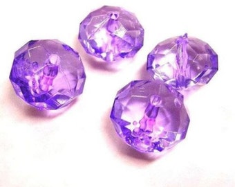 12pcs acrylic Faceted,Rondelle beads-W2533X2