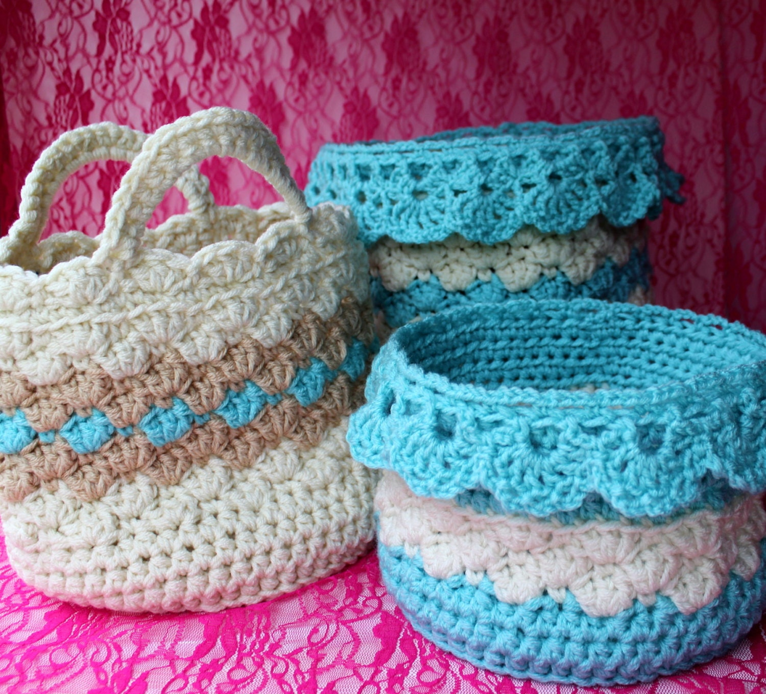 Ebook large crochet basket patterns drop over lace edge this is a digital file bankloansurffo Image collections