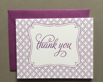 Truffle Thank you letterpress card