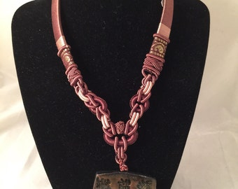 CLEARANCE SALE 50% OFF.... Polymer Clay Necklace