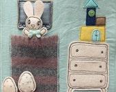 Easter bunny fabric activity book, quiet book