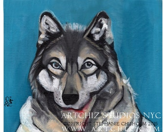 Grey Wolf Illustration. Art. Wolf Pack. Mascot. NC State. Division 1. College Football. KC. Nevada. U Conn. Signed by artist  - Winter Kill