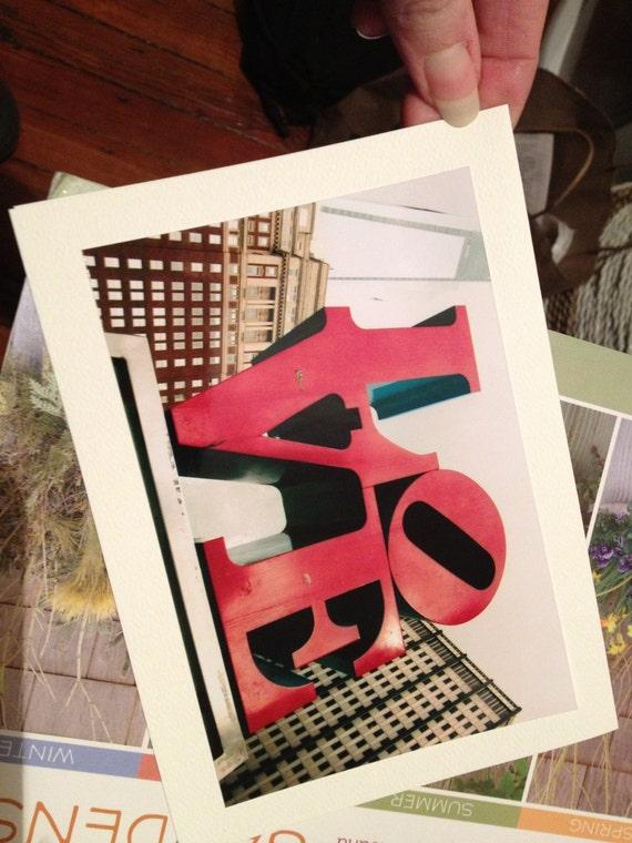 ALL LOVE Card Set Handmade Photo Cards Blank 5 x 7 Notecards Philadelphia Love Park