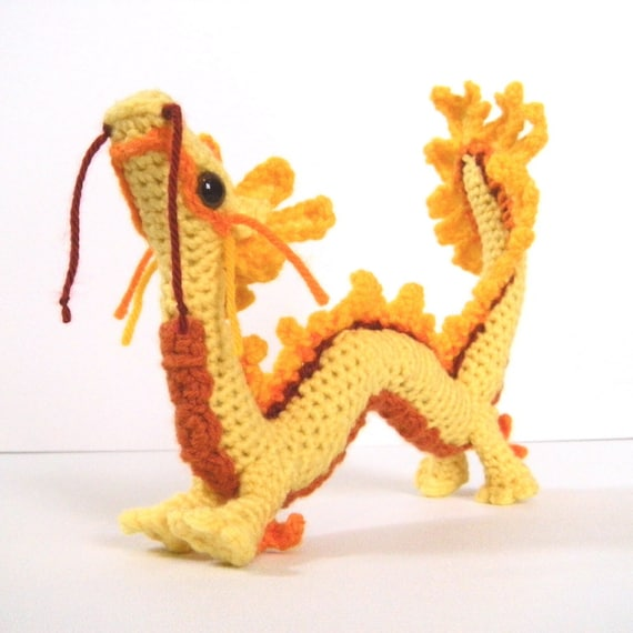 Amigurumi Chinese Dragon : Asian Dragon Art Doll Amigurumi Chinese Dragon Toy Plush
