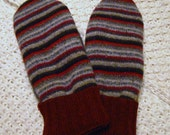 Felted Recycled Wool Sweater Mittens WarmWoolies