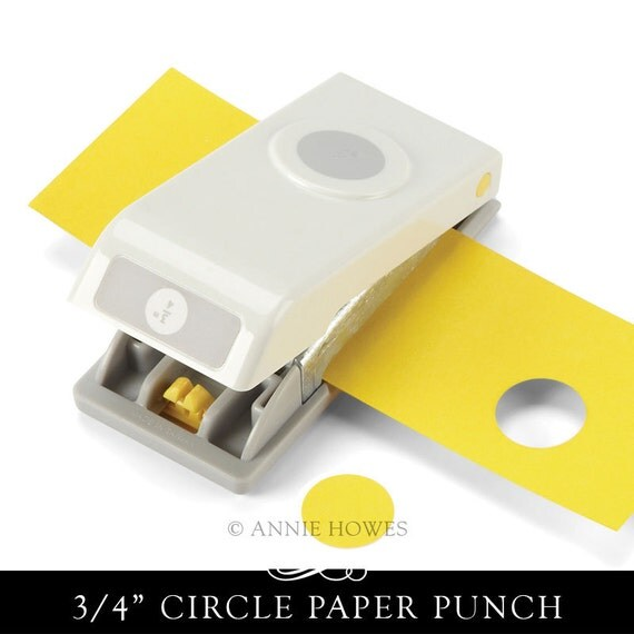 3/4 Inch Circle Paper Punch. Makes Perfect Circles. Annie Howes.